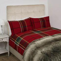 conjunto de cama Highland Check rojo