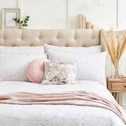 conjunto de cama Fowey jacquard gris plata