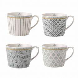 4 tazas Tea Collectables gris