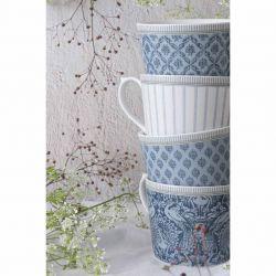 4 tazas Tea Collectables azul