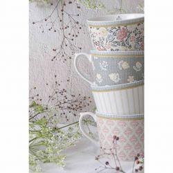 4 tazas Tea Collectables rosa