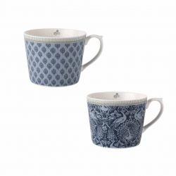 2 tazas Tea Collectables azul
