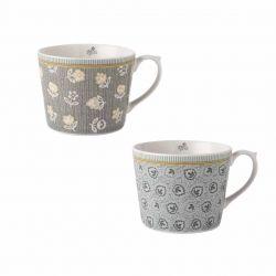 2 tazas Tea Collectables gris