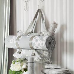 papel pintado de rayas gris Brampton, de Laura Ashley
