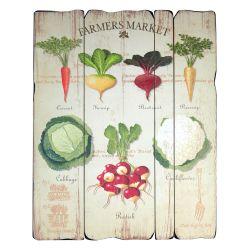 Panel de madera Farmer Market