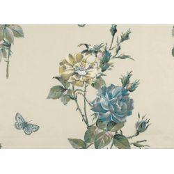 tejido estampado memento azul verdoso