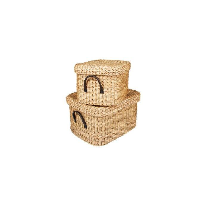 juego de dos cestas rectangulares