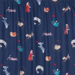 cortinas confeccionadas Pets azul