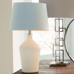 base de lámpara Ockley blanca