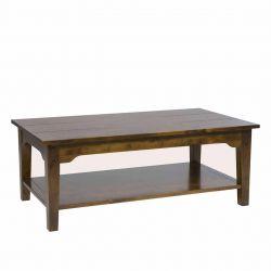 Mesa de centro Garrat rectangular castaño oscuro