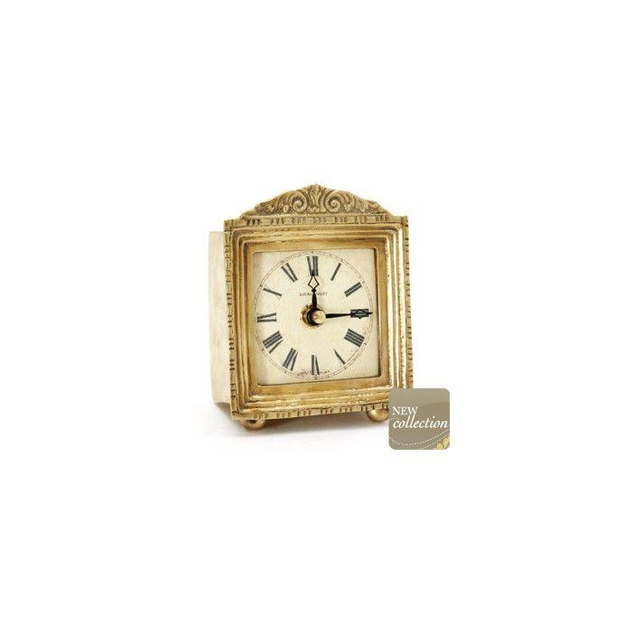 reloj cuadrado de latón