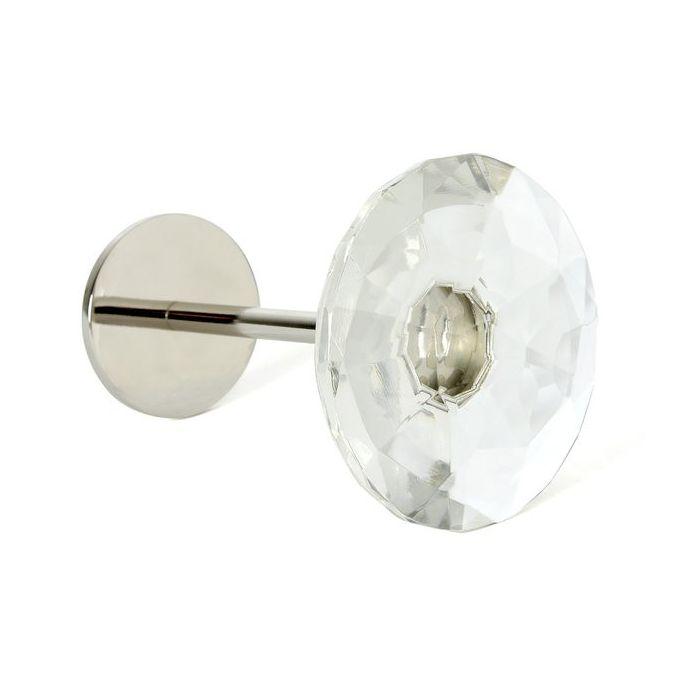 sujeción para cortinas en cristal de diseño