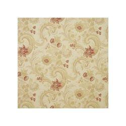 tejido de lino estampado baroque frambuesa pergami