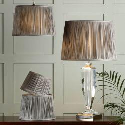 pantalla plisada gris carbón para lámparas de diseño