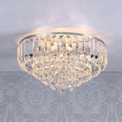 Lámpara de techo Viena cromo x3