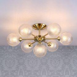 Lámpara de techo Atherton Latón x7