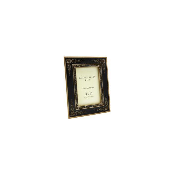 marco rectangular negro y dorado