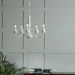 Lámpara de techo Tate de madera blanca