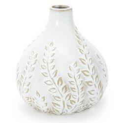 pequeño jarrón cerámico diseño hojas