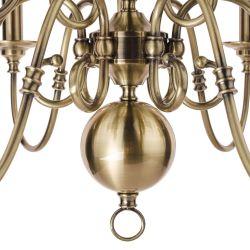 Lámpara de techo Winchester x9  latón