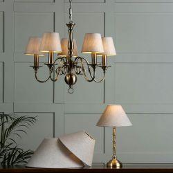 Lámpara de techo Winchester x5 latón