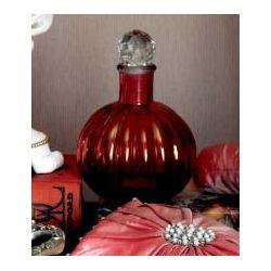botella de cristal para perfume rosa brillante