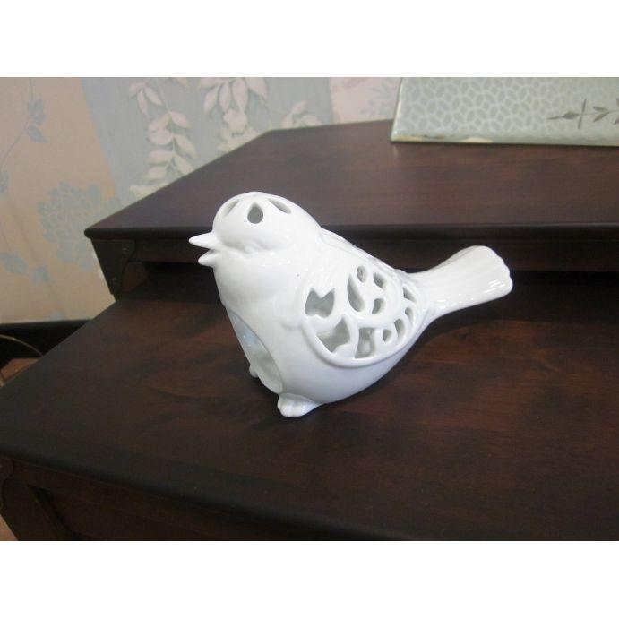 portavelas diseño pájaro