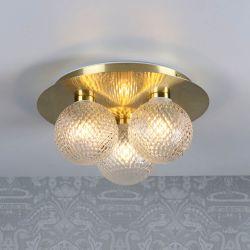 Lámpara de Baño Techo Latón x3