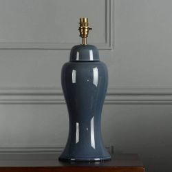 Base de lámpara Regina Grande Azul Mar Oscuro