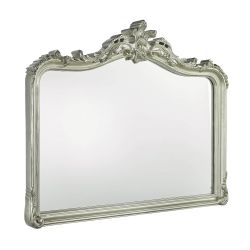 espejo de pared con elegante diseño en su marco de acabado champán