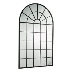 espejo en arco diseño ventana estilo industrial
