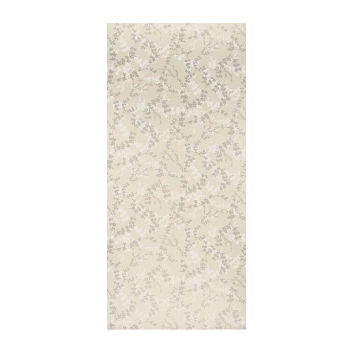 papel de pared pintado de diseño de hojas en tonos tostados y naturales