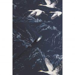papel pintado Animalia azul noche
