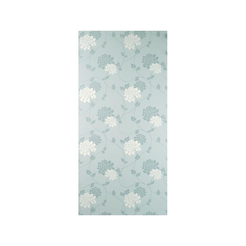 Comprar papel pintado isodore azul verdoso y blanco de for Papel pintado azul y plata