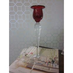 candelabro cristal arándano