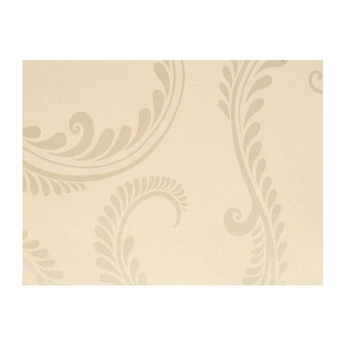 papel pintado diseño paisley en tonos naturales lino