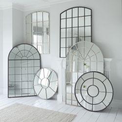 espejo de diseño ventana de estilo industrial