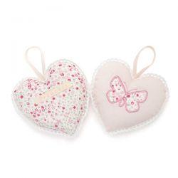 juego de dos corazones perfumados bella butterfly