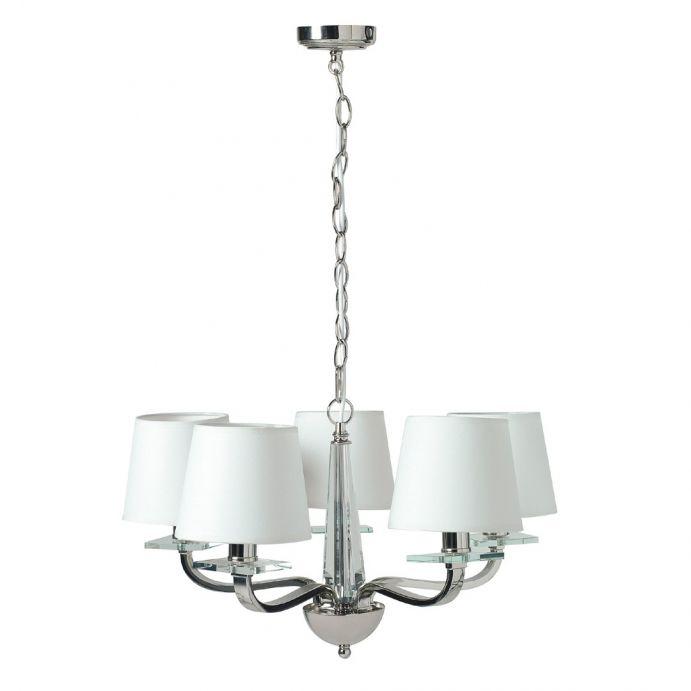lámpara de techo de 5 brazos hayden cristal