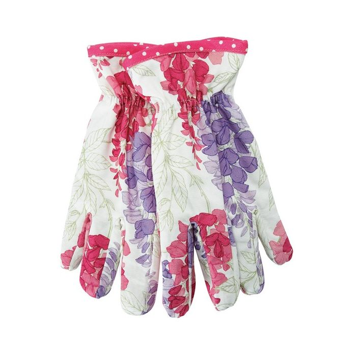 guantes de jarcinería glicinia, wisteria