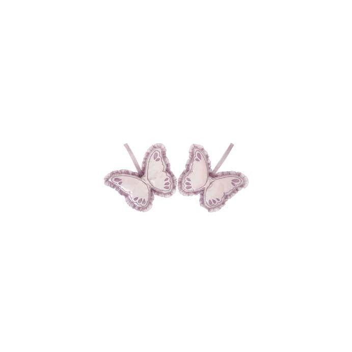 juego de dos mariposas perfumadas y  bordadas colo