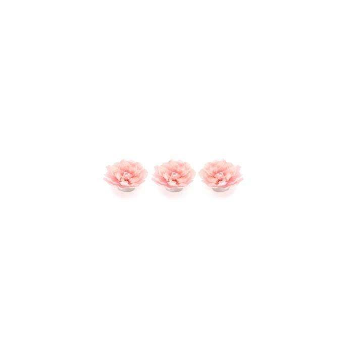 juego de tres luces LED a modo de peonía