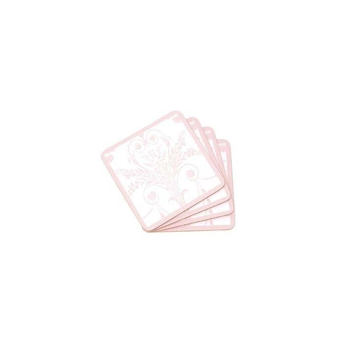 juego de cuatro posavasos josette floral