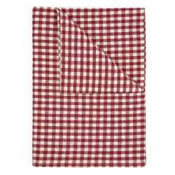 mantel textil gingham rojo