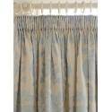 cortinas confeccionadas tatton jacquard azul verdo