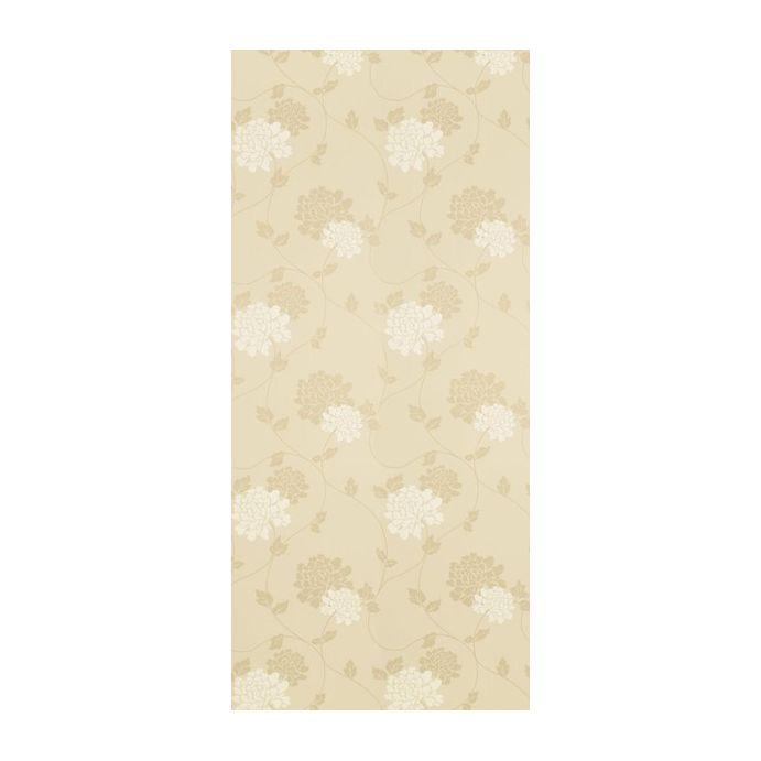 papel pintado de pared estampado con flores y tintas brillantes
