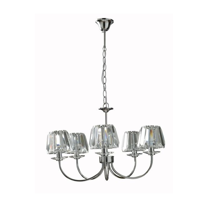 lámpara de 5 brazos capri cristal