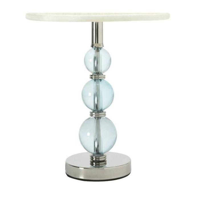 base de lámpara en cristal mini selby azul verdoso