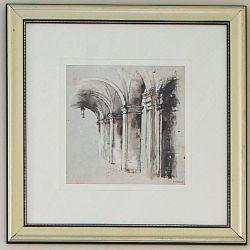 lámina enmarcada de tema arquitectónico the cloist