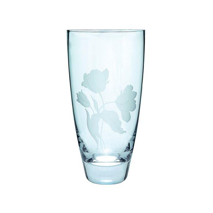 jarrón de cristal con grabado gosford